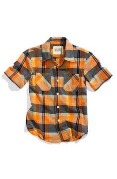 Peek, Greenwich Utility Shirt #toddler #boy $34
