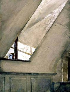 "' Spatterware' 1967 Andrew Wyeth , watercolour on paper , 30"" x 21.75"""