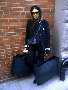 Jen Brill with Chanel bags