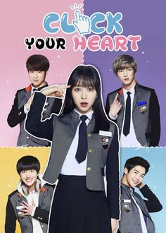 """Produced by FNC Entertainment, """"Click Your Heart"""" is a high school romance drama for the teen audience. Mina will play the female lead, a lovable. Korean Drama Romance, Korean Drama List, Korean Drama Movies, Korean Actors, Web Drama, Drama Film, Drama Series, Kdrama, Click Your Heart"""
