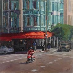 Red Awning, 24x24, oil