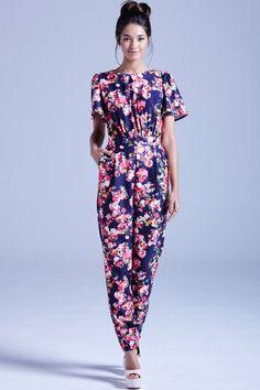 62cab350b1de Outlet Girls On Film Navy Kaleidoscope Floral Jumpsuit