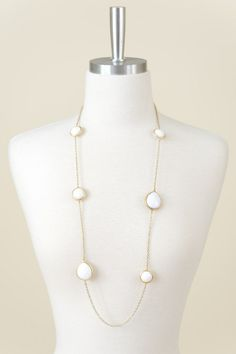 No Tears Here Necklace-White