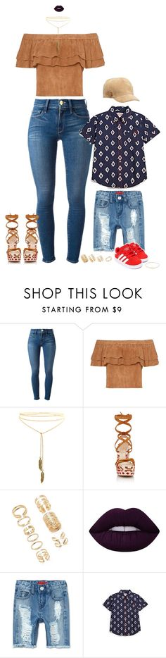 """""""One Love."""" by nba-luvher ❤ liked on Polyvore featuring Frame Denim, Gianvito Rossi, Forever 21, Lime Crime, Haus of JR, True Religion, Vans, DateNight, NightOut and mommyandme"""