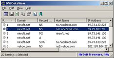 DNSDataView v1.46 This utility is a GUI alternative to the NSLookup tool that comes with Windows operating system. It allows you to easily retrieve the DNS records (MX, NS, A, SOA) of the specified domains. #computers #software #freeware #opensource