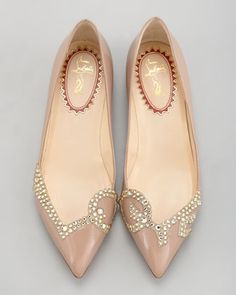 Christian Louboutin Pigalove Pointed-Toe Flat - Neiman Marcus