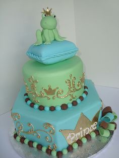 Frog Prince Cake for Luke's 1 year birthday cake.