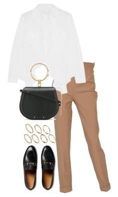 """""""Untitled #4369"""" by theeuropeancloset on Polyvore featuring Hermès, Chloé, Gucci and Pieces"""