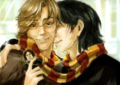 Moony and Padfoot: winter by ~Linnpuzzle on deviantART