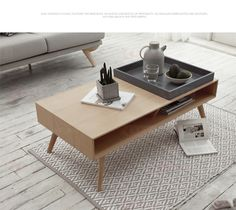 modern nordic solid wood coffee table shop ezbuy singapore
