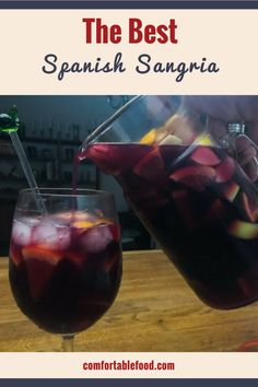 The Best Spanish Sangria Recipe & Video - The Best Spanish Sangria Recipe & Video - Sweet Sangria Recipe, Spanish Sangria Recipe, Red Sangria Recipes, Berry Sangria, Wine Recipes, Homemade Sangria Recipe Easy, Red Wine Sangria, Margarita Recipes, Party Drinks