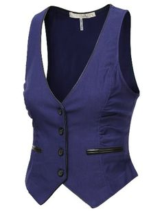J.TOMSON Womens Button Down Vest (bestseller)