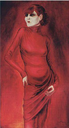 Otto Dix, 1925, The Dancer Anita Berber, Kunstmuseum Stuttgart.