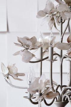 Pearled Magnolia Chandelier - anthropologie.com #anthrofave