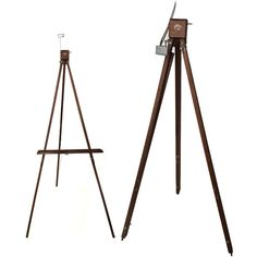 1960s Large Anco Bilt Tripod Wooden Artist Easel Portable Floor and... ($190) ❤ liked on Polyvore featuring home, home decor, easel, wood easel, wood home decor, wooden easel and wooden home decor