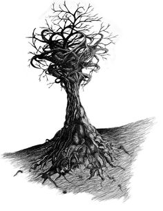 sketch of twisted tree