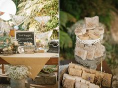 I just like the rustic idea and the smooth colour palette with this contrasted fresh green in the background...