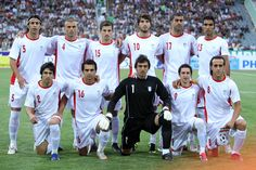 Iran poses for a picture before a 2011 games against Maldives. The iranian soccer team has won the Asian Cup three times and and qualified for world cup competitions three times. Some other popular sports are bodybuilding and wrestling. One of the most famous athletes is Ehsan Haddadi who won silver in the 2012 olympics.