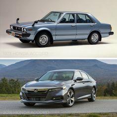 #TBT: 1977 Honda Accord Vs. 2018 Honda Accord
