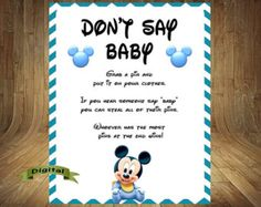 Mickey Mouse Baby Shower Games, Mickey Mouse Baby Shower, Mickey Mouse Baby  Shower Game Bundle, Mickey Baby Games