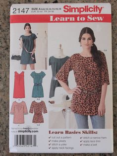 Sewing Pattern Simplicity 2147 Misses by ImagineQuiltsAndMore