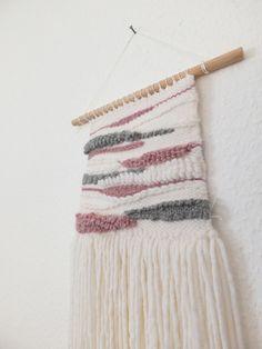 """Wanddeko - Wandteppich gewebt // Wall Hanging """" GreyRosé """" - ein Designerstück von tijmoo bei DaWanda"""