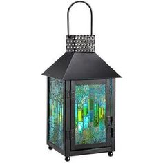 Bangor Lantern in Blue (Set of 2)