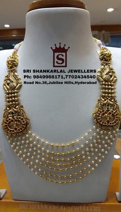 Latest Antique Kundan Pearl Step Chains at wholesale prices!Please Visit Store to See Complete Collections Or For any further information Please Contact us 7702434540 08 September 2019 Antique Jewellery Designs, Gold Jewellery Design, Gold Jewelry, Gold Necklaces, Gold Bangles, Pearl Necklace Designs, Gold Earrings Designs, Bridal Jewelry, Fashion Jewelry