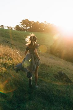 go for a run | sprinting fields | sunset | dresses n grass stains