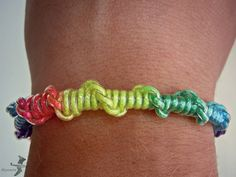 the classic knot and twist bracelet with colored chord yarn