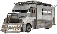 Armored Zombie Apocalyse Bus