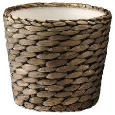 IKEA - DRUVFLÄDER, Cache-pot, Fait main par un artisan qualifié.Un pot intérieur en plastique rend ce pot  imperméable.