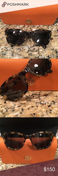 Tory Burch Sunglasses Only worn a handful of times. In excellent condition. Tortoiseshell Tory Burch prescription sunglasses. Frames will need to be replaced with your prescription lenses. Tory Burch Accessories Sunglasses