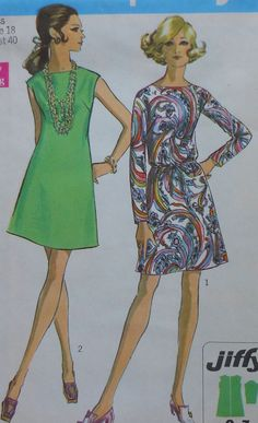 Vintage Dress Sewing Pattern Simplicity 8181 por latenightcoffee