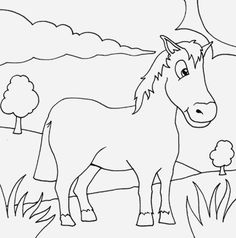 Horse Printable Coloring Pages - Horse Printable Coloring Pages , Horse Coloring Pages and Printables Train Coloring Pages, Horse Coloring Pages, Easter Coloring Pages, Printable Coloring Pages, Coloring Books, Pink And Gold Wallpaper, Baby Farm Animals, Anime Muslim, Color Me Beautiful