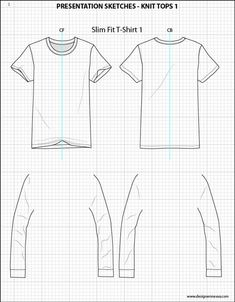 Mens Illustrator Flat Fashion Sketch Templates - Presentation Sketches Tops…