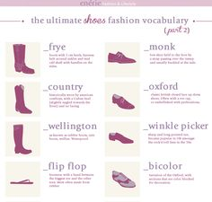 DIY Know Your Shoes Guide Part 2 from Enerie here. My favorite shoes still aren't listed yet - Louis Heels which were popular in the 1920s. For Part 1 (43,000 notes), with the infamous Lobster Claw/Armadillo Shoes go here:...