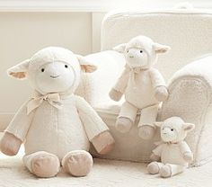 Stuffed Animals For Babies & Small Stuffed Animals | Pottery Barn Kids / toy / lamb / white