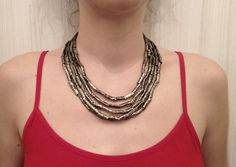 Darkened Nickel Silver Egyptian Style Tribal Necklace by Tribaldervish on Etsy