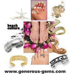 Toe Ring Season by generousgems on Polyvore  #Toering #Summer #summerwear #toe #pedicure #beach #vacation #fashiontrends #fashion #beachfun #ring