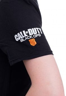 4 SKULL CAMOUFLAGE LOGO BLACK T-SHIRT OFFICIAL CALL OF DUTY BLACK OPS IIII