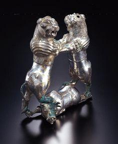 Pre-Achaemenid Silver Compound Zoomorphic Vessel      Silver, 8th-6th century  B.C.E.