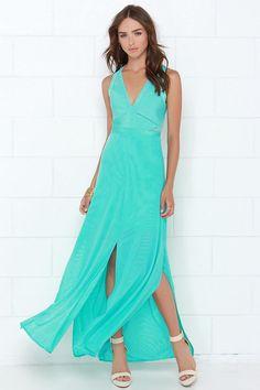 Snap Out of It Aqua Maxi Dress at Lulus.com!