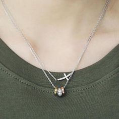 Triple Rings Necklace