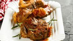 Osso bucco au four Slow Cooker Pork, Slow Cooker Recipes, Cooking Recipes, Polenta, Osso Bucco Porc, Pork Osso Bucco Recipe, Risotto, Gremolata, Gourmet