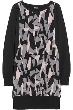 DKNY Printed cotton-jersey tunic £92.25 http://www.theoutnet.com/products/525998