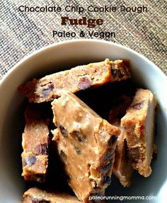 paleo cookie dough fudge #vegan #paleo