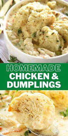 Fluffy Dumpling Recipe, Homemade Dumplings, Dumplings For Soup, Dumplings Recipe Easy, Best Dumplings, Instapot Chicken And Dumplings, Creamy Chicken And Dumplings, Creamy Chicken Soups, Chicken Dumpling Soup