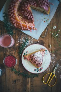We love Molly Yeh's beautiful brown sugar challah with pomegranate glaze.