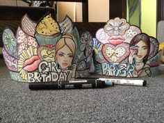 """""""birthday crowns """"markers """"pencils"""